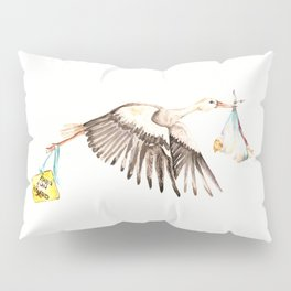 Baby on Bird Pillow Sham