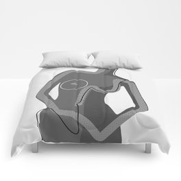 Abstract Nudity Comforters
