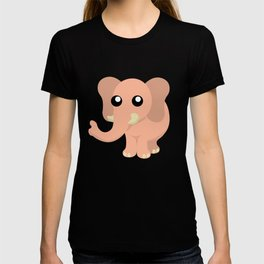 Cute Cartoon Elephant T-shirt