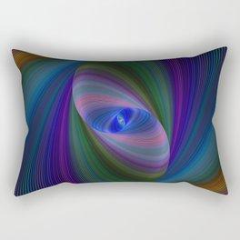Elliptical fractal Rectangular Pillow