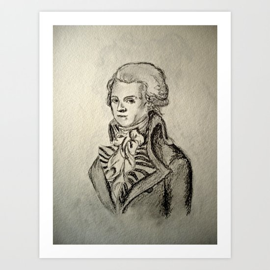 French Sketch I Art Print