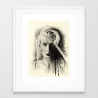iggy Framed Art Prints featuring Iggy by Creadoorm