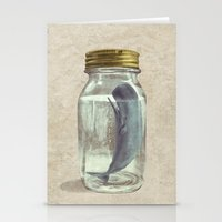 sad Stationery Cards featuring Extinction by Terry Fan
