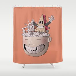 Pie Brains Shower Curtain