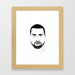 Hip Hop B&W Portait Framed Art Print