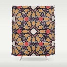 Arabian geometric design Shower Curtain