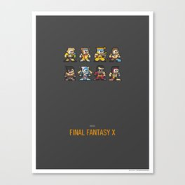 Mega Final Fantasy X Canvas Print