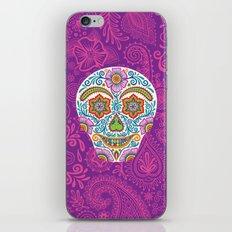 Flower Power Skully iPhone & iPod Skin