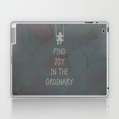 Find joy in the ordinary quotes Laptop & iPad Skin