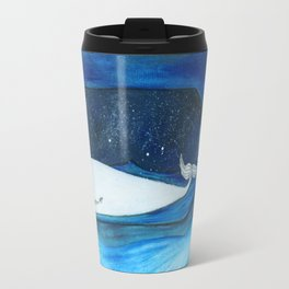 whale in a space bottle Travel Mug