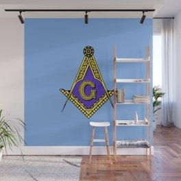 Freemason (Blue) Wall Mural