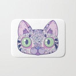 Chromatic Cat II (Purple, Blue, Pink) Bath Mat