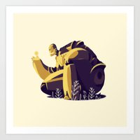 iron giant Art Prints featuring IRON GIANT by rafael mayani