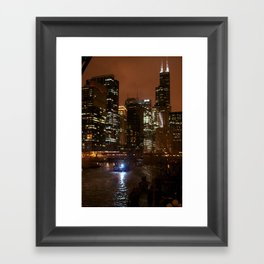 Nighttime Chicago Framed Art Print