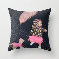 Rainy Day Adventure Throw Pillow