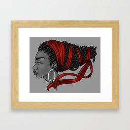 Red Ribbon Framed Art Print