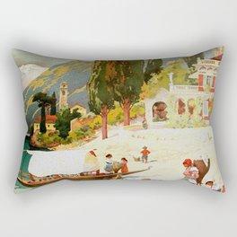Switzerland and Italy Via St. Gotthard Travel Poster Rectangular Pillow