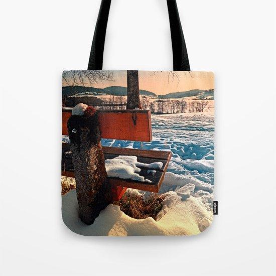 View into winter scenery Tote Bag