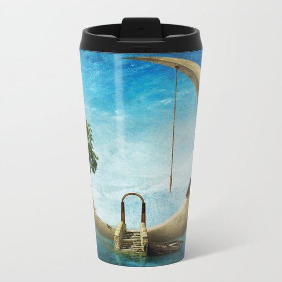 Home Sweet Moon Metal Travel Mug