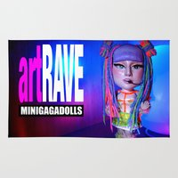 artrave Area & Throw Rugs featuring artRAVE ARTPOP ball collection rainbow dreadlocks by Sergiomonster