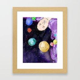 space trip Framed Art Print