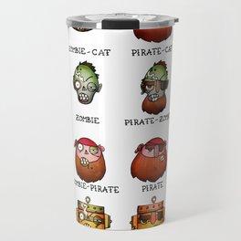 Cat Zombie Pirate Robot Travel Mug