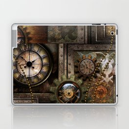Steampunk, wonderful clockwork with gears Laptop & iPad Skin