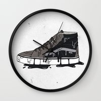 vans Wall Clocks featuring Vans Sk8-hi's by shoooes
