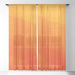 Orange Sunset Sheer Curtain