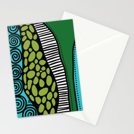 Green Dive -Plongeon vers-textures Stationery Cards