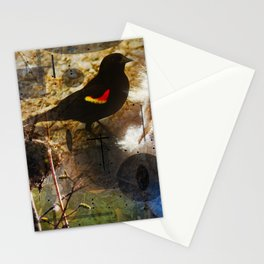 life thru the eyes of a red winged blackbird Stationery Cards