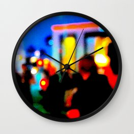 LA at Night Wall Clock