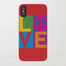 Love Peace Color Blocked iPhone Case