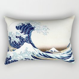 The Great Wave off KanagawA muted Rectangular Pillow