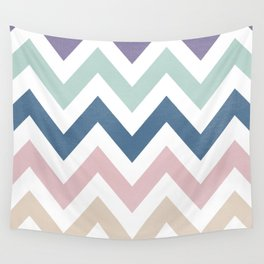 MUTED CHEVRON {COOL TONES} Wall Tapestry