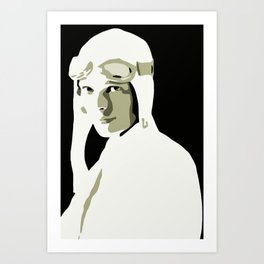 Silhouette vector Art: Amelia Art Print