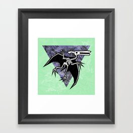 Pterodactyl Fossil Framed Art Print