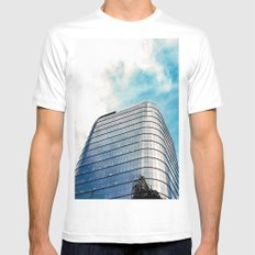 Big Building Mens Fitted Tee White MEDIUM