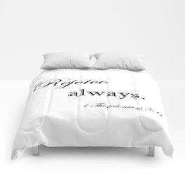 Always Rejoice Comforters