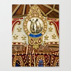 Rhinocerous Carousel at Fair Canvas Print