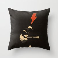 acdc Throw Pillows featuring ACDC - For Those About to Rock! by Diego Maricato