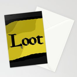 Loot: Color Gold Stationery Cards