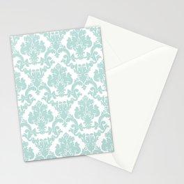 damask, in eau de nil Stationery Cards