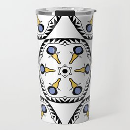 Geometric flower seamless pattern Travel Mug