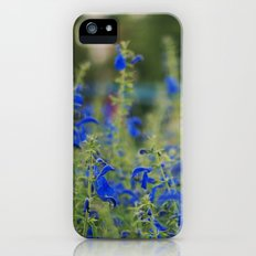 blue flowers iPhone (5, 5s) Slim Case