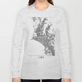Lima White Map Long Sleeve T-shirt