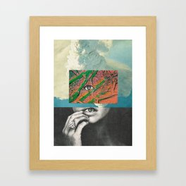 before the rain... Framed Art Print