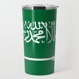 National flag of  the Kingdom of Saudi Arabia - Authentic version to scale and color Travel Mug