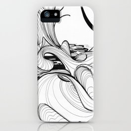 Micron Baigneuse iPhone Case
