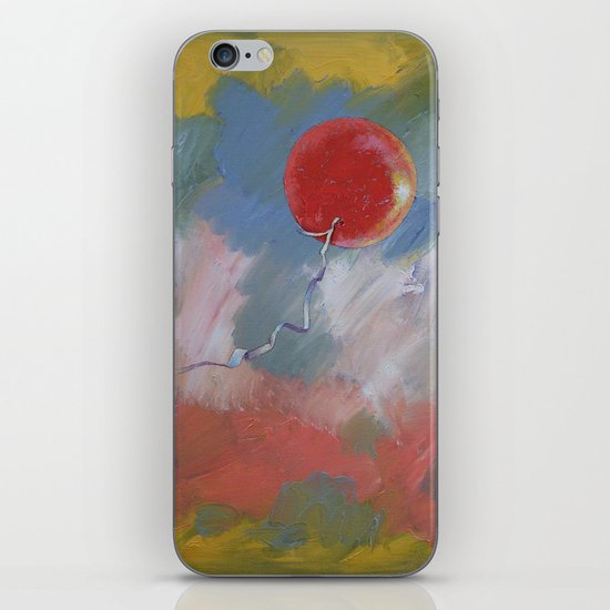 Goodbye Red Balloon iPhone & iPod Skin